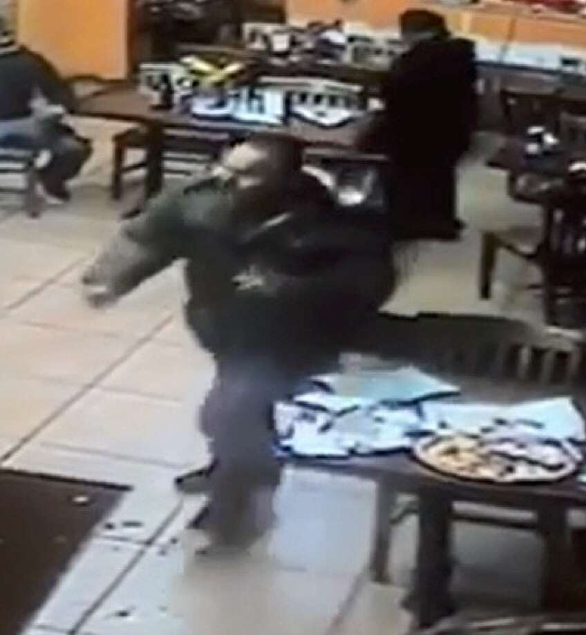 Surveillance video captured the suspect in the stabbing Thursday at Lola's Market in Santa Rosa. Photo: Provided By Santa Rosa Police