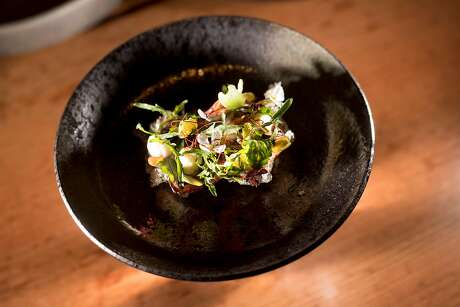 Pipikaula from the tasting menu at 'Aina in S.F. Photo: Noah Berger, Special To The Chronicle