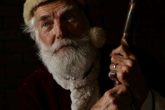 A portrait of Will Wood, who is Father Christmas during the Great Dickens Christmas Fair at the Cow Palace exhibition halls on Thursday, Dec. 21, 2017, in Daly City, Calif.