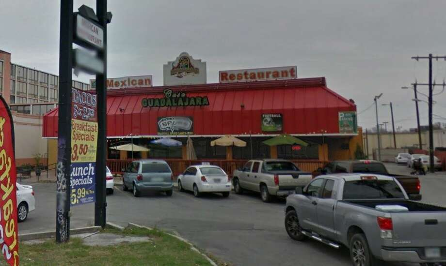 """Casa Guadalajara Bar & Grill: N.E. 2623 Loop 410  Date: 12/04/2018  Score: 53 Highlights:  Inspector observed carne asada cooked the night before stored in the walk-in cooler at too warm a temperature. Raw meats were stored above ready-to-eat foods. Refried beans on the prep table were also at an improper temperature. Fruit flies and gnats observed at the bar. Soda gun and ice machine needed cleaning. Accumulated debris and liquids from interior of unused refrigeration units. Employees not washing hands before donning gloves. Food items were stored without proper labels. Soap required at all handwashing sinks. Possible cross contamination from employee drinks noted. Beard nets are required for some employees. Instructed """"do not wedge (knives) between the equipment and the cutting board."""" Repair leaking sinks. Photo: Google Maps"""