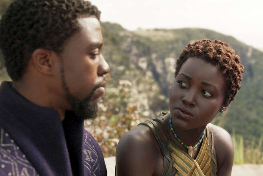 """Black Panther"" - with king T'Challa (Chadwick Boseman) and Nakia (Lupita Nyong'o) - is one of at least 11 superhero films coming in 2018. Photo: Disney-Marvel Studios / Disney-Marvel Studios"