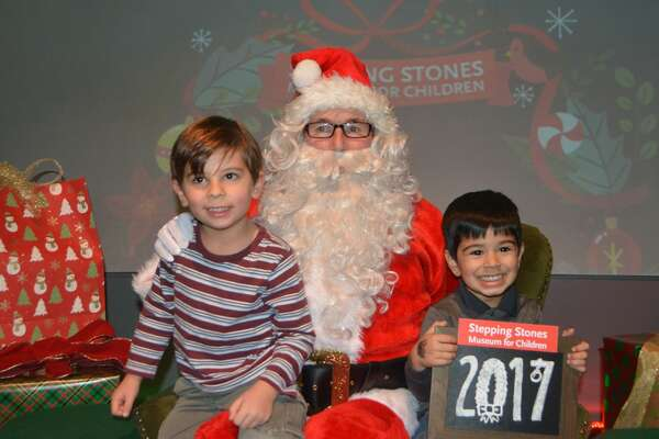 Kids and families sat and took photos with Santa at Stepping Stones Museum for Children in Norwalk on December 22, 2017. Were you SEEN?