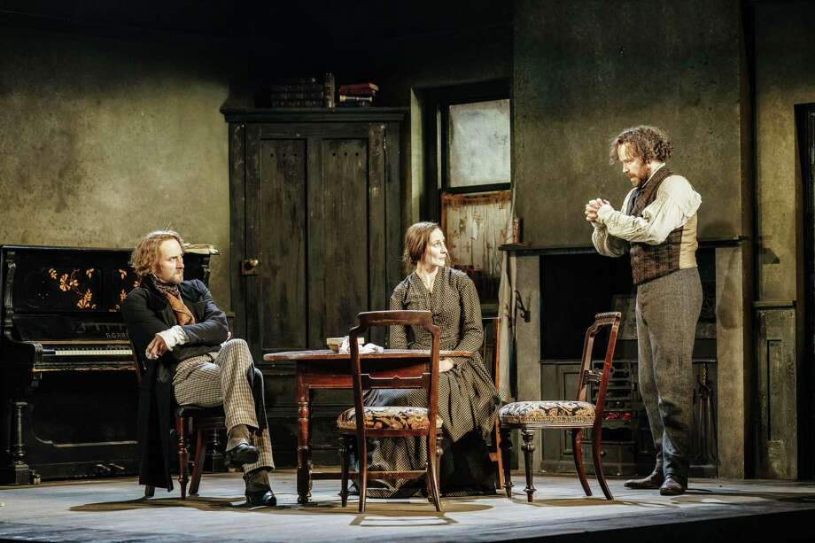 "Oliver Chris, Laura Elphinstone and Rory Kinnear are featured in the Bridge Theatre production of ""Young Marx."" Photo: Manuel Harlan / Contributed Photo / Manuel Harlan"