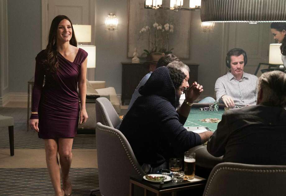"""This image released by STXfilms shows Jessica Chastain in a scene from """"Molly's Game."""" (Michael Gibson/STXfilms via AP) Photo: Michael Gibson, HONS / Motion Picture Artwork © 2017 STX Financing, LLC. All Rights Reserved."""