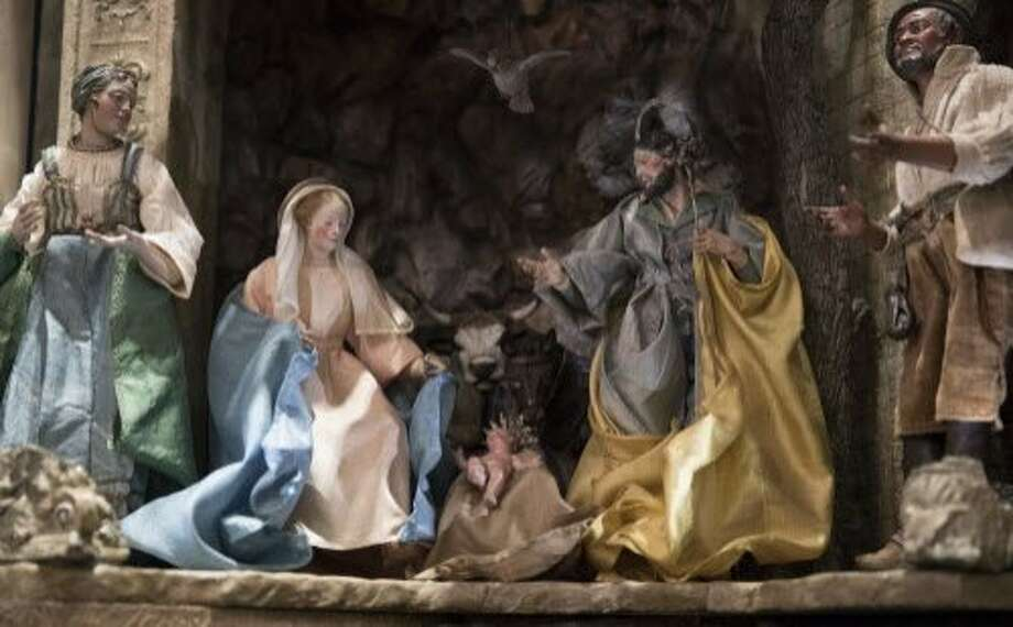 A Nativity Scene is featured in the East Room of the White House Photo: Carolyn Kaster, Associated Press