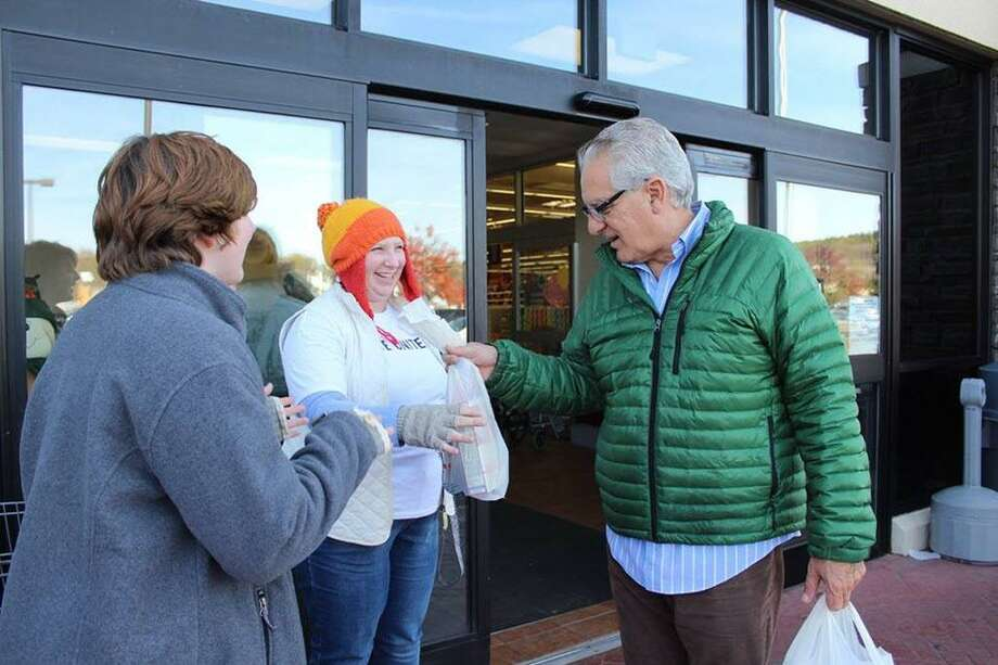 Hundreds donated items this year at Stop & Shop as part of the Middletown Community Thanksgiving Project. Photo: Middlesex United Way Photo