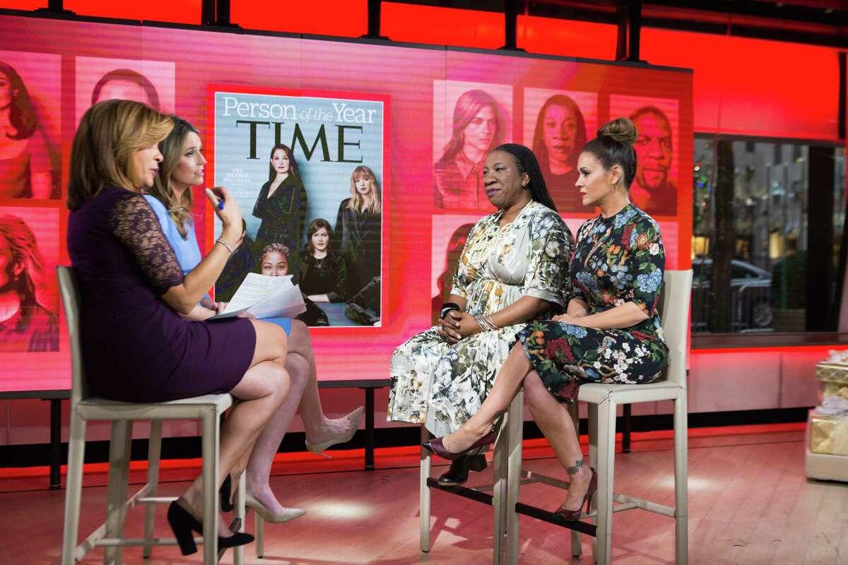 Hoda Kotb, Tarana Burke, Savannah Guthrie and Alyssa Milano on Wednesday, December 6, 2017