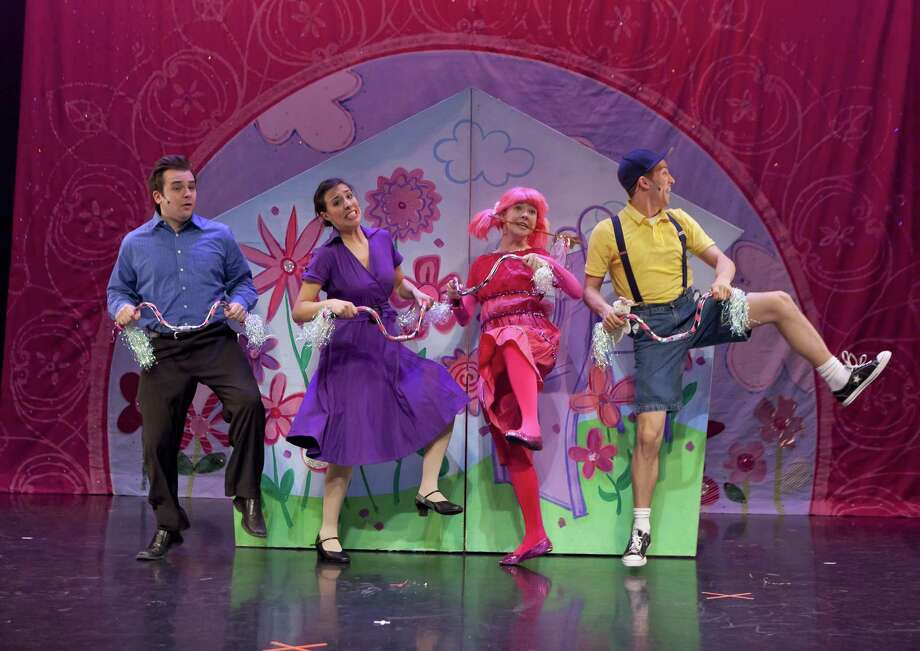 "The cast of children's show ""Pinkalicious."" Photo: Shubert Theatre / Contributed Photo / © 2009 Richard Termine for The New York Times"