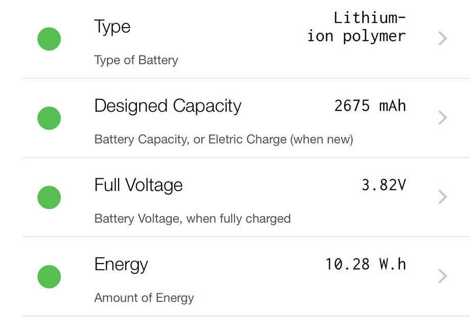 The free and paid versions of Lirum Info give you lots of detail about the status of your iPhone's battery. Photo: Chronicle Screenshot