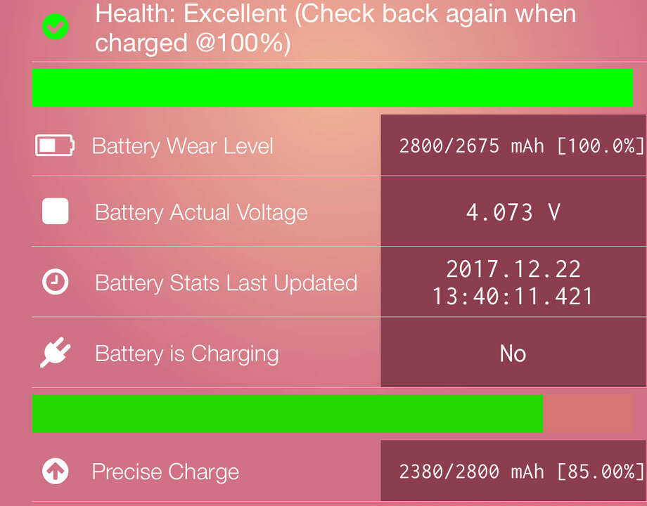 The paid version of Lirum Info goes into much greater detail about your iPhone's battery. Photo: Chronicle Screenshot