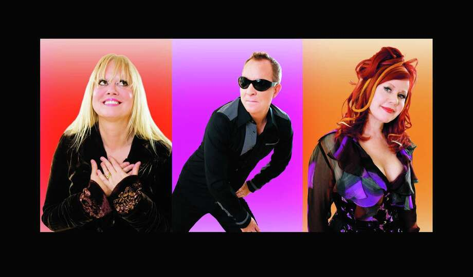 The B-52's, Cindy Wilson, left, Fred Schneider and Kate Pierson, will perform at Foxwoods on New Year's Eve. Photo: Pieter M. Van Hattem / Foxwoods