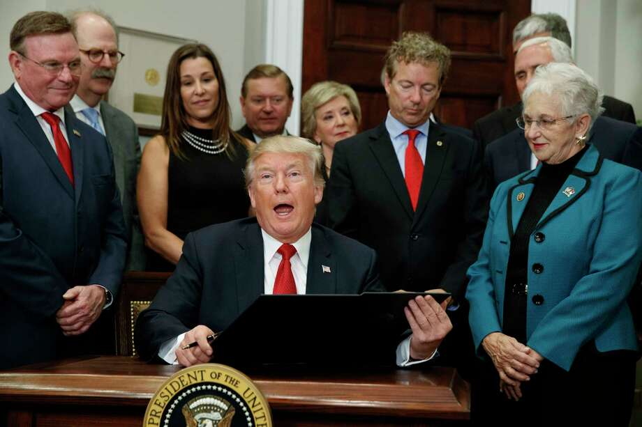 In this Oct. 12, 2017 file photo, President Donald Trump speaks before signing an executive order on health care in the Roosevelt Room of the White House in Washington.>>>See the states faring best and worst under repeal of Obamacare. Photo: Evan Vucci, AP / Copyright 2017 The Associated Press. All rights reserved.
