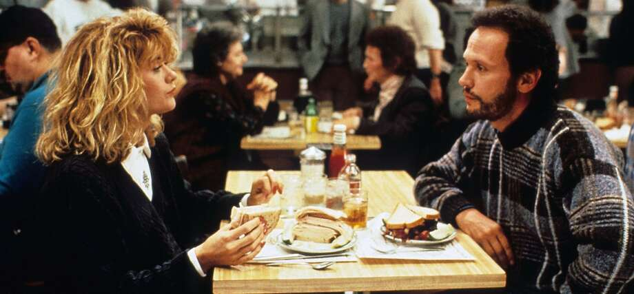 """Meg Ryan and Billy Crystal in Rob Reiner's """"When Harry Met Sally..."""" Photo: Columbia Pictures 1989"""