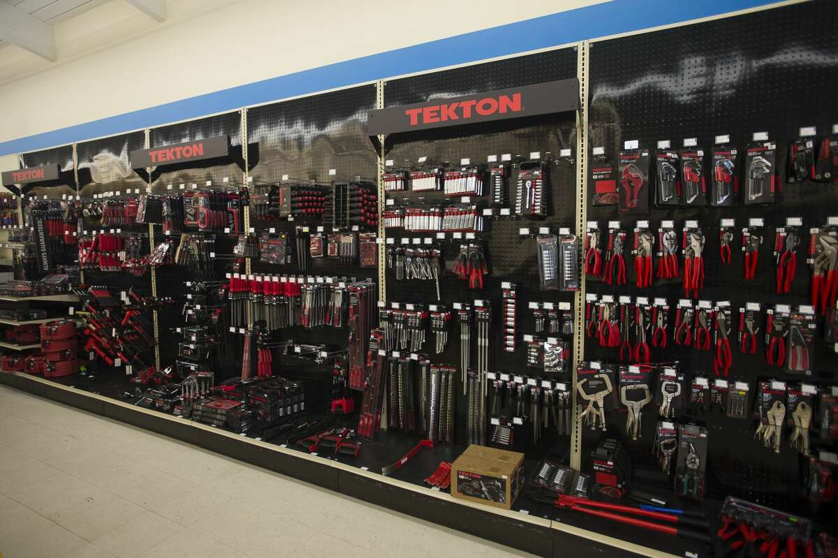 A wall of tools is on display at the Merchandise Outlet, located on the south side of M-20 east of Vance Road. (Katy Kildee/kkildee@mdn.net)