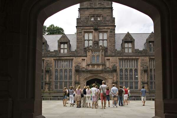 A report says that many Latino students have the academic credentials to go to more selective universities — such as Princeton, shown here. These schools have records of higher graduation rates, but that they don't go, opting instead for open-access two- and four-year colleges.