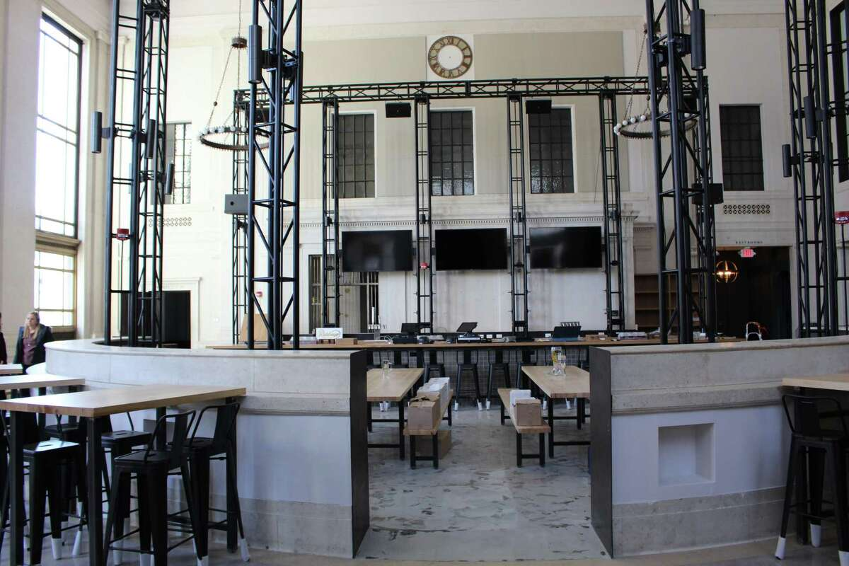 Harlan Haus has converted the lobby of the former People's Bank building into a beer hall for locals to enjoy.