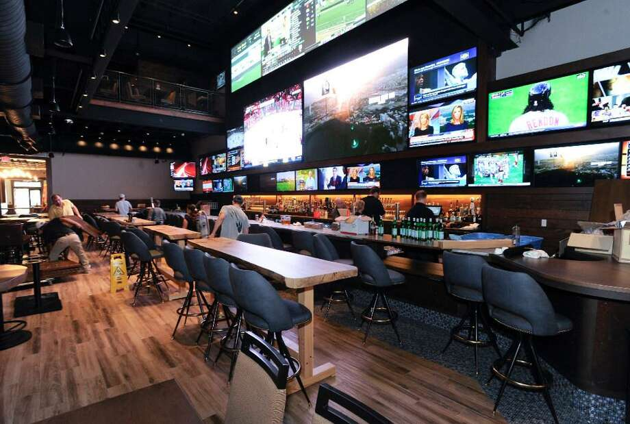 The recently-opened Bobby V's sports bar, restaurant and OTB lounge in Stamford was built by the same company proposing an OTB lounge in a Danbury restaurant, also with a sports bar and restaurant theme. Photo: / Matthew Brown
