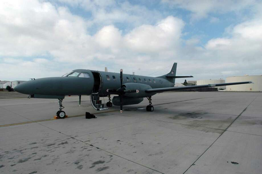 An Air National Guard RC-26 in California, a similar model to the military C-26 that San Antonio-based M7 Aerospace was awarded a maintenance contract on. Photo: /