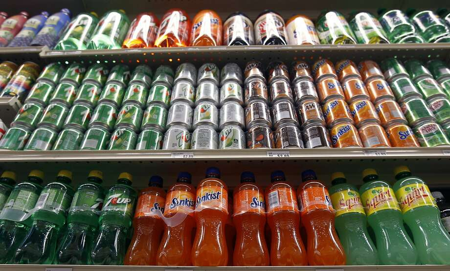 Soft drinks are displayed on shelves at the Berkeley Bowl West market in Berkeley in 2014. Photo: Paul Chinn, The Chronicle