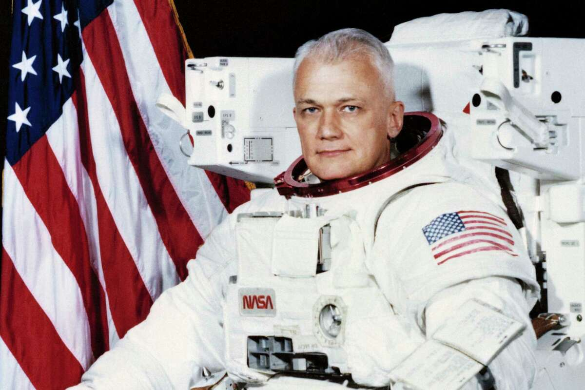 Former astronaut and retired U.S. Navy captain Bruce McCandless II died Thursday in California at age 80. He was the first to fly untethered in space, where he logged more than 312 hours.