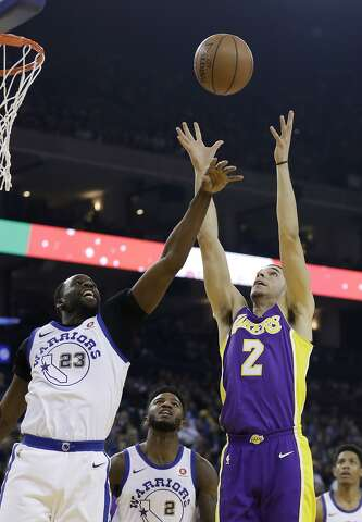ba85427f9dd98d Golden State Warriors forward Draymond Green (23) and Los Angeles Lakers  guard Lonzo Ball