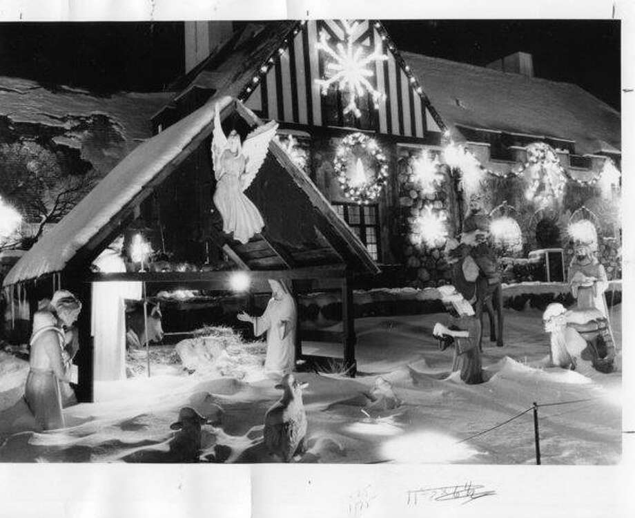 The nativity scene at the Midland County Courthouse. December 1983
