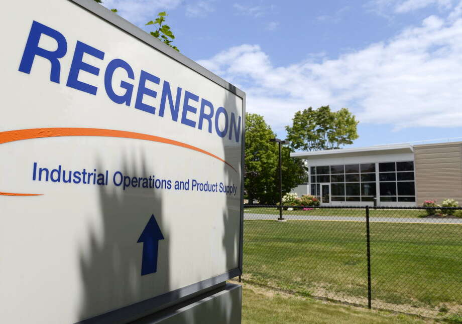 The sign outside of Regeneron's East Greenbush facility. Photo: TU Archive