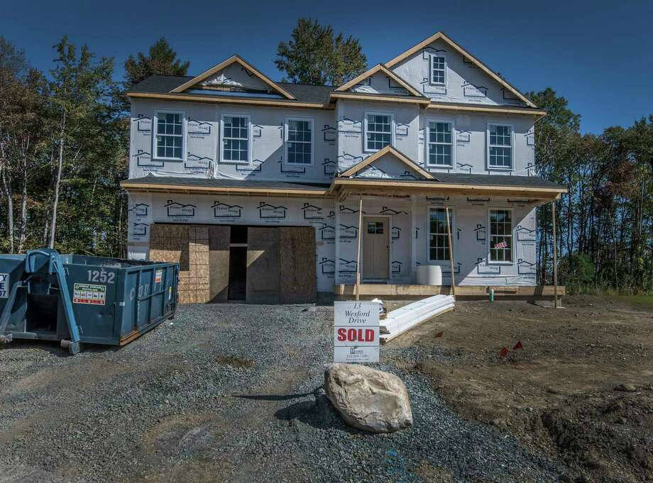 Home under construction on Wexford Drive in the Londonderry Ridge development Monday Oct. 2, 2017 in Latham, N.Y. (Skip Dickstein/Times Union) Photo: SKIP DICKSTEIN / 20041731A