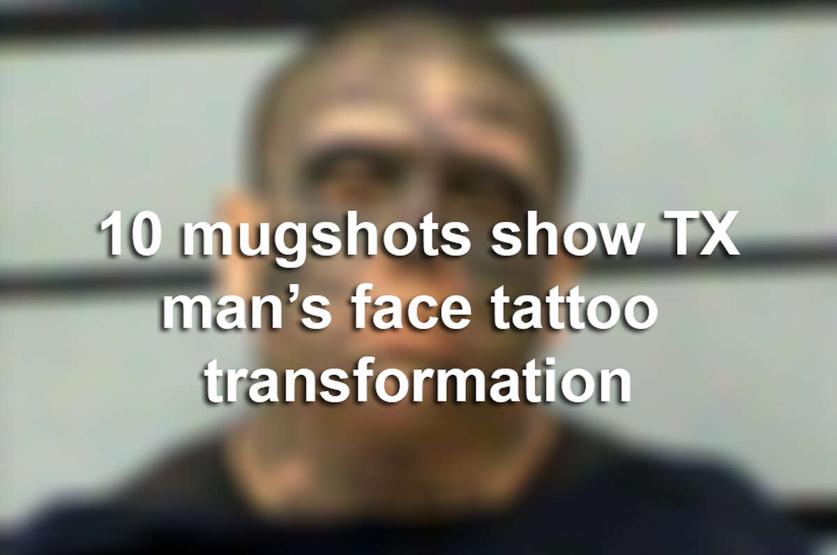 Jacob Joe Pauda's run-ins with the law over several years have documented the Texas man's transformation into a tattooed ghoul. Click here to read his story.