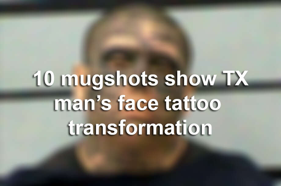 Jacob Joe Pauda's run-ins with the law over several years have documented the Texas man's transformation into a tattooed ghoul. Click here to read his story. Photo: Lubbock County Detention Center