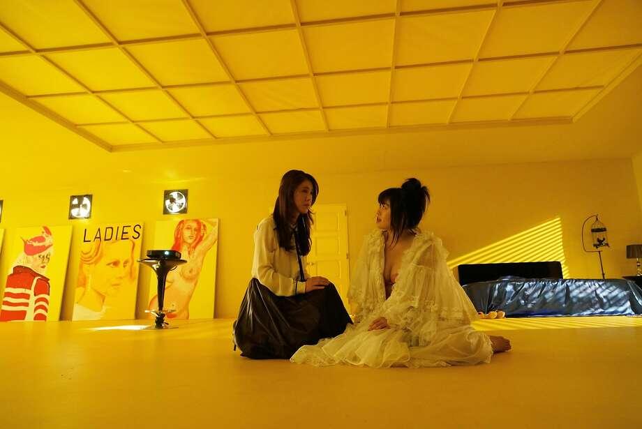 "Noriko (Mariko Trutsui, left) and Kyoko (Ami Tomite) in Sion Sono's ""Antiporno."" Photo: Nikkatsu"