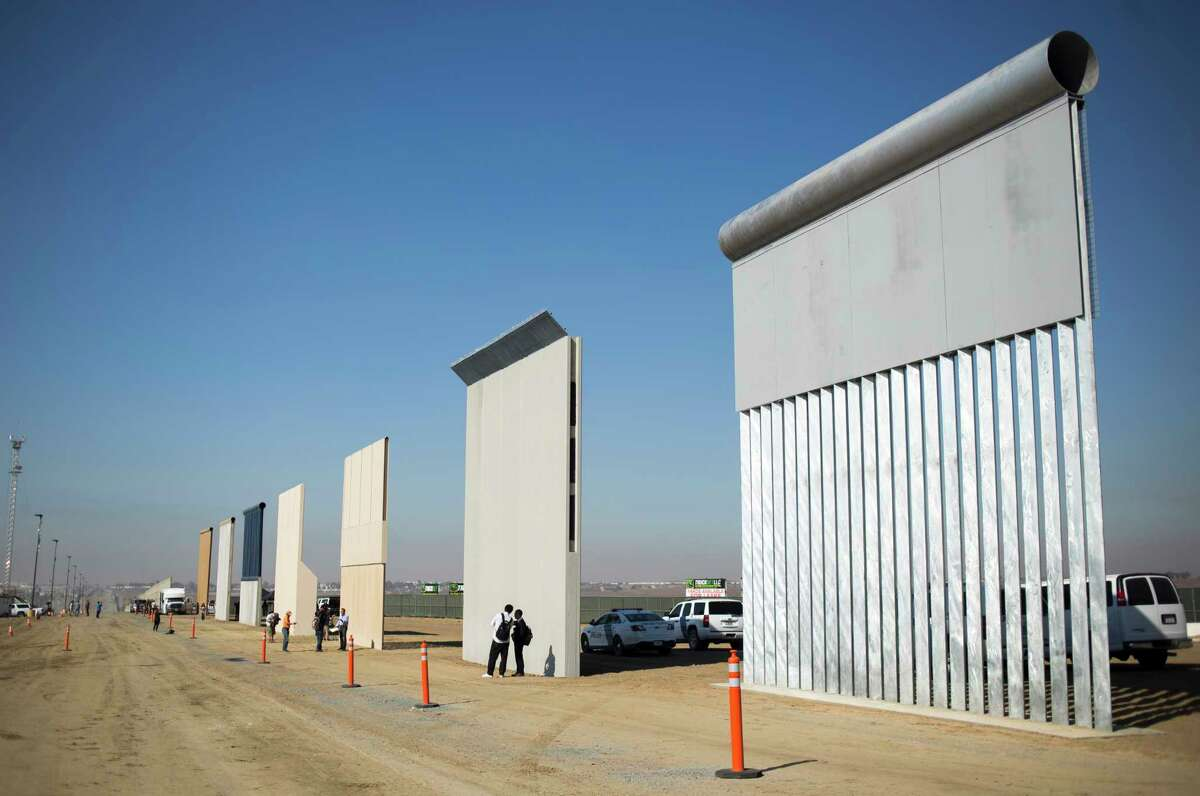 Border wall prototypes in San Diego, Oct. 26, 2017.