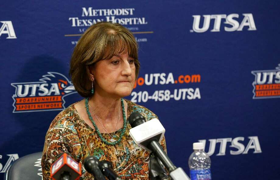 After 18 years at UTSA, Lynn Hickey's reign as athletic director concluded on Sept. 7, 2017. Photo: Kin Man Hui /Express-News