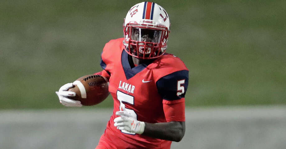 PHOTOS: Houston's top unsigned high school football recruitsLamar Texans cornerback D'shawn Jamison (5) returns a punt in the fourth quarter during the high school football game between Klein Collins Tigers and the Lamar Texans at Delmar Stadium in Houston, TX on Thursday, September 14, 2017.These are the top high school football recruits in the Houston area for the Class of 2018 who haven't signed with anyone yet. Photo: Tim Warner/For The Chronicle