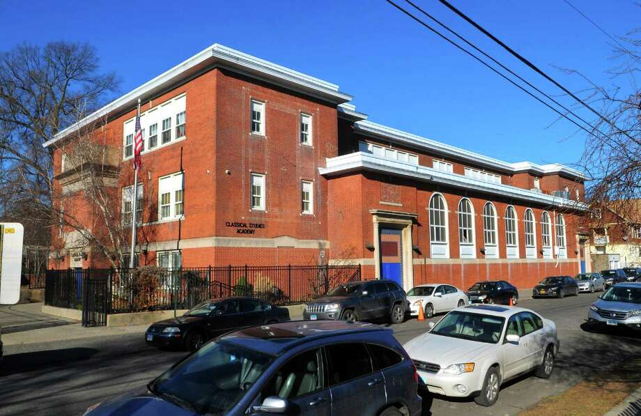 Classical Studies Academy at 240 Linwood Ave. in Bridgeport. Photo: Christian Abraham / Hearst Connecticut Media / Connecticut Post