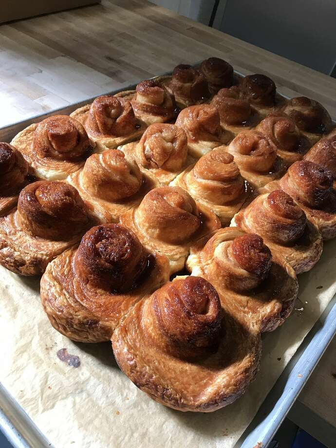 The process of making morning buns at the Tartine kitchen, with Fausto Echeverria. Photo: Dianne De Guzman / SFGATE