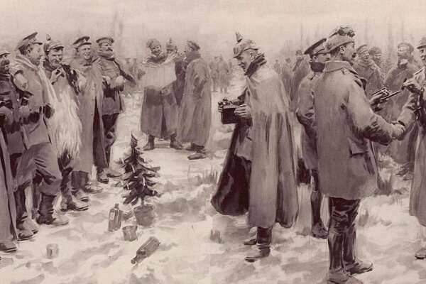 WWI is known for gruesome trench warfare, but on Christmas Day, 1914, a spontaneous truce broke out. Some units in the warring parties - the armies of France and Britain on one side, and Germany on the other - put down their weapons for the briefest of moments to celebrate a holiday that brought opposing sides together.
