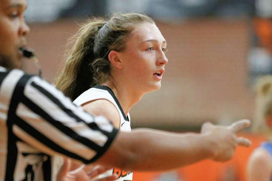 Maggie Kirby #22 of The Bethlehem Eagles reacts to a called foul on 12/21/17 in Delmar NY. Photo: Robert Dungan (Special to the Times Union) ORG XMIT: MER2017082023255053 Photo: Robert Dungan / Robert Dungan 2017