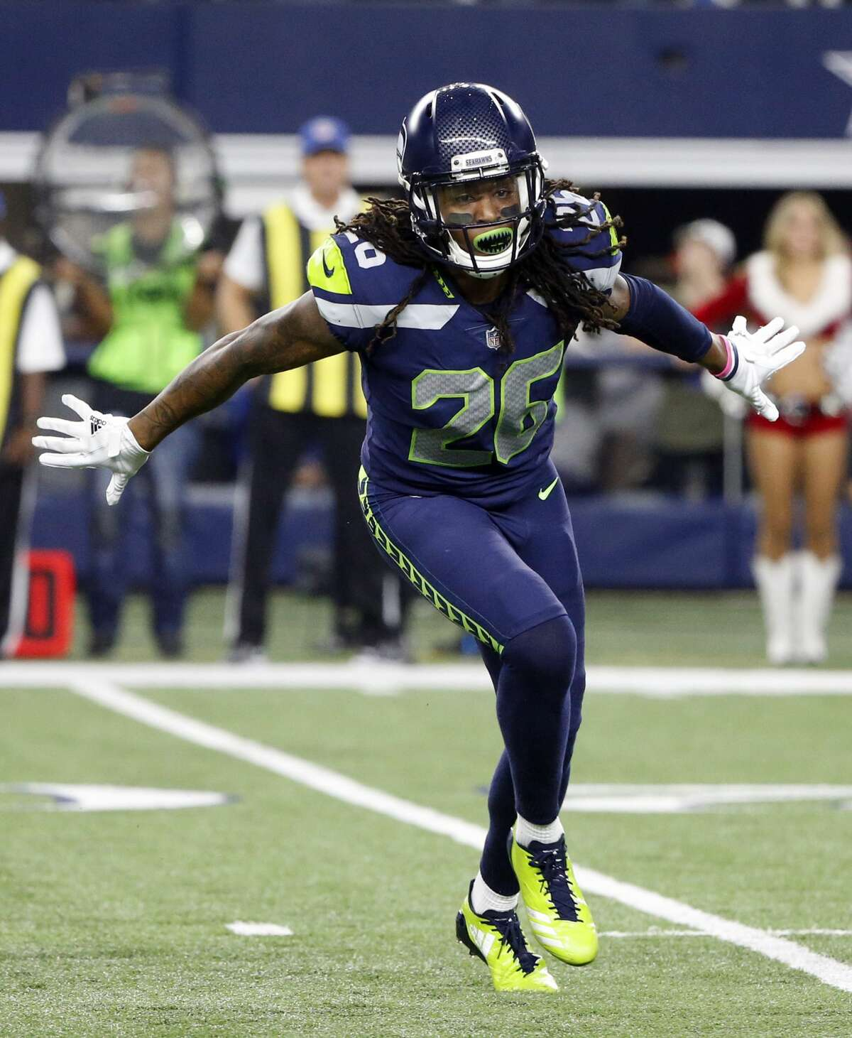 CORNERBACKS  The biggest concern has been what the Seahawks can get from the right cornerback spot.  Shaquill Griffin has had the left side, Sherman's former spot, locked up since Day 1 of training camp. He's demonstrated the confidence and swagger you'd like to see in a star in the making, suggesting he'll have a breakout second NFL season. Justin Coleman may be one of best slot corners in the league.  The right side, however, is up in the air.  Expected starter Dontae Johnson, formerly of the San Francisco 49ers, isn't game eligible to play until Week 9 after being placed on Injured Reserve on Saturday. Byron Maxwell, who played a critical role on the Seahawks' championship team in the 2013 season, was released on injury settlement. And veteran backup Neiko Thorpe has missed significant time already, ahead of Week 1, with a wrist issue.  That means rookie Tre Flowers has to grow up quickly.  A safety in his time at Oklahoma State, Flowers has had to make the transition to cornerback and adopt the Seahawks' signature