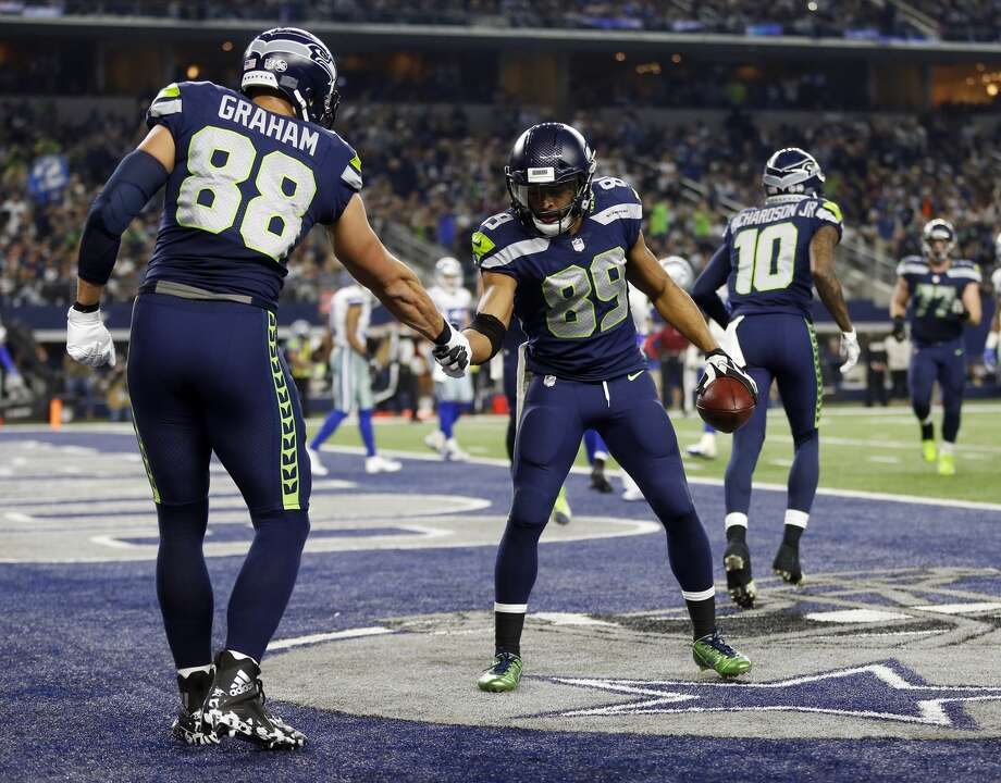 """Doug Baldwin says the """"jury is still out"""" on what the Seahawks' offense can do in 2018. What do you think?  Click through the following slideshow for breakdowns at quarterback, tailback, wide receiver, tight end and the offensive line. Photo: Ron Jenkins/AP"""
