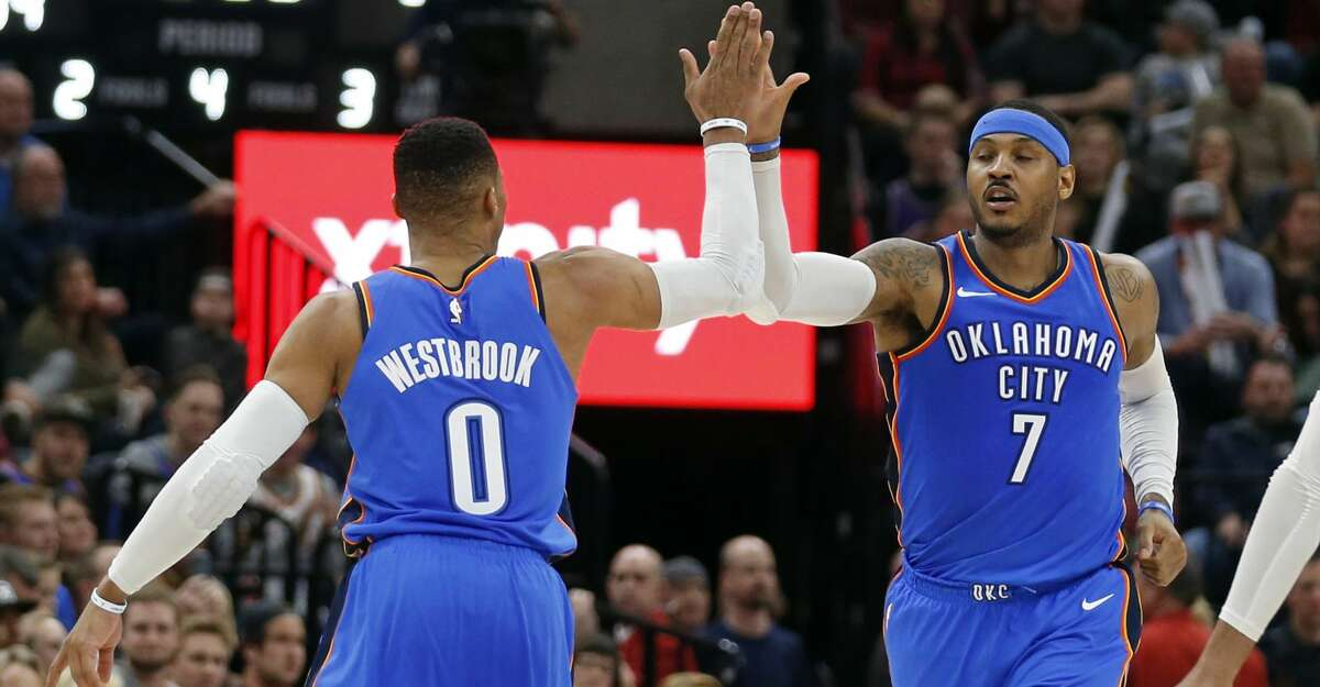 PHOTOS: Rockets game-by-game The Rockets face Russell Westbrook, Carmelo Anthony and the Oklahoma City Thunder on Monday. Browse through the photos to see how the Rockets have fared through each game this season.