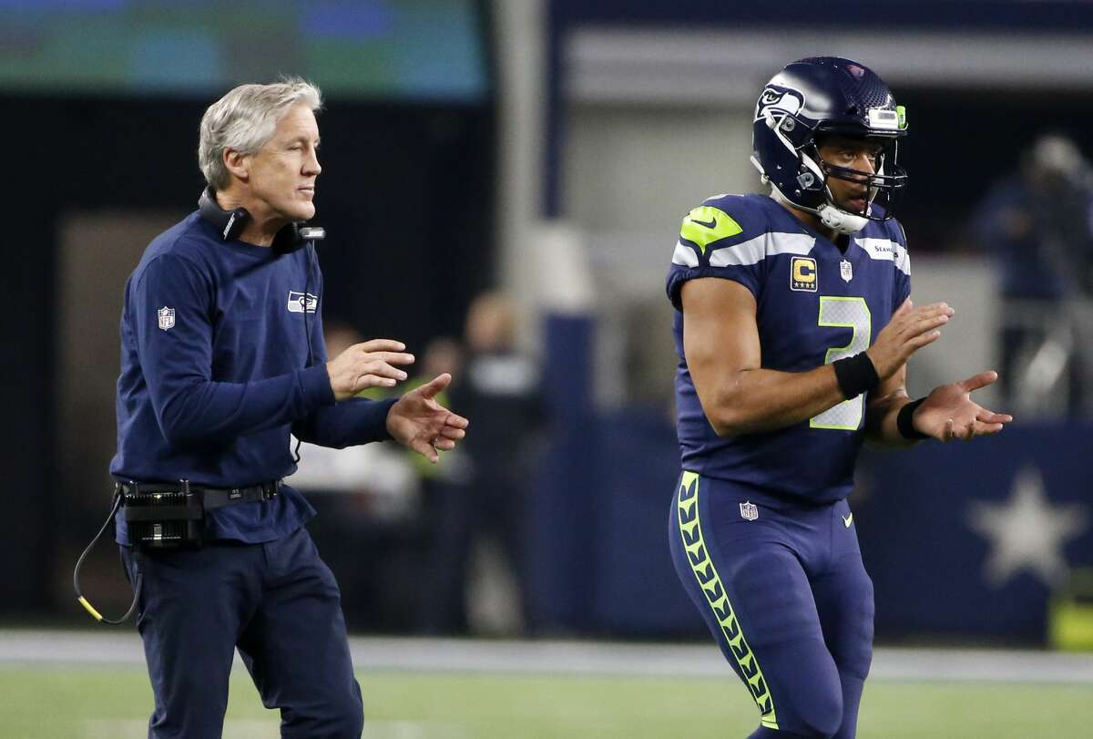 What are thoughts of Pete Carroll signing an extension to remain coach of the Seahawks?  Wilson: