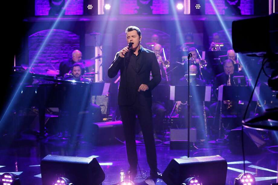 Comedian Seth MacFarlane on Seth Meyers' late show as musical guest. Photo: (Photo By: Lloyd Bishop/NBC), NBCU Photo Bank Via Getty Images
