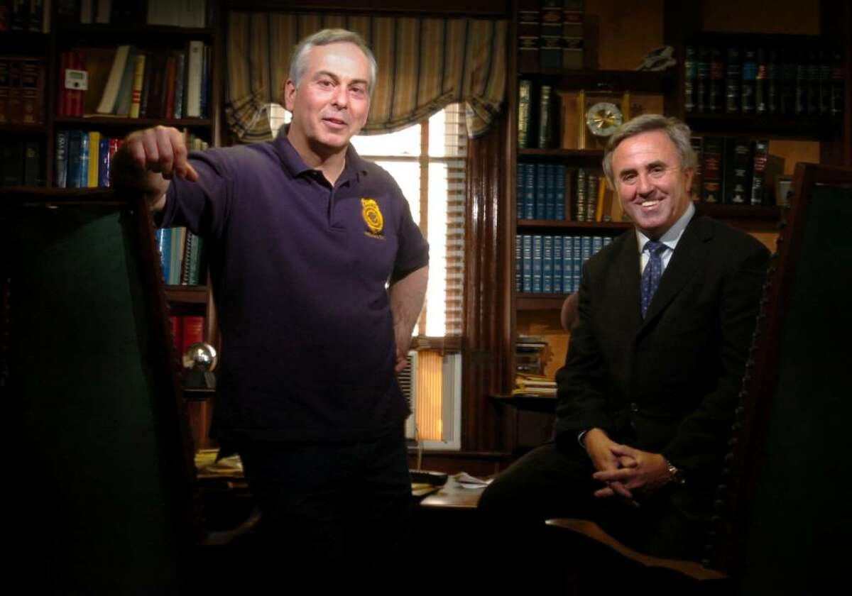 Mickey Sherman, right, and Capt. Richard Conklin are characters in the new James Patterson novel Fourth of July.