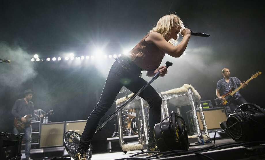 Emily Haines is set to play with rock band Metric at Mezzanine in S.F. Photo: (Photo By Mat Hayward/Getty Images), Getty Images