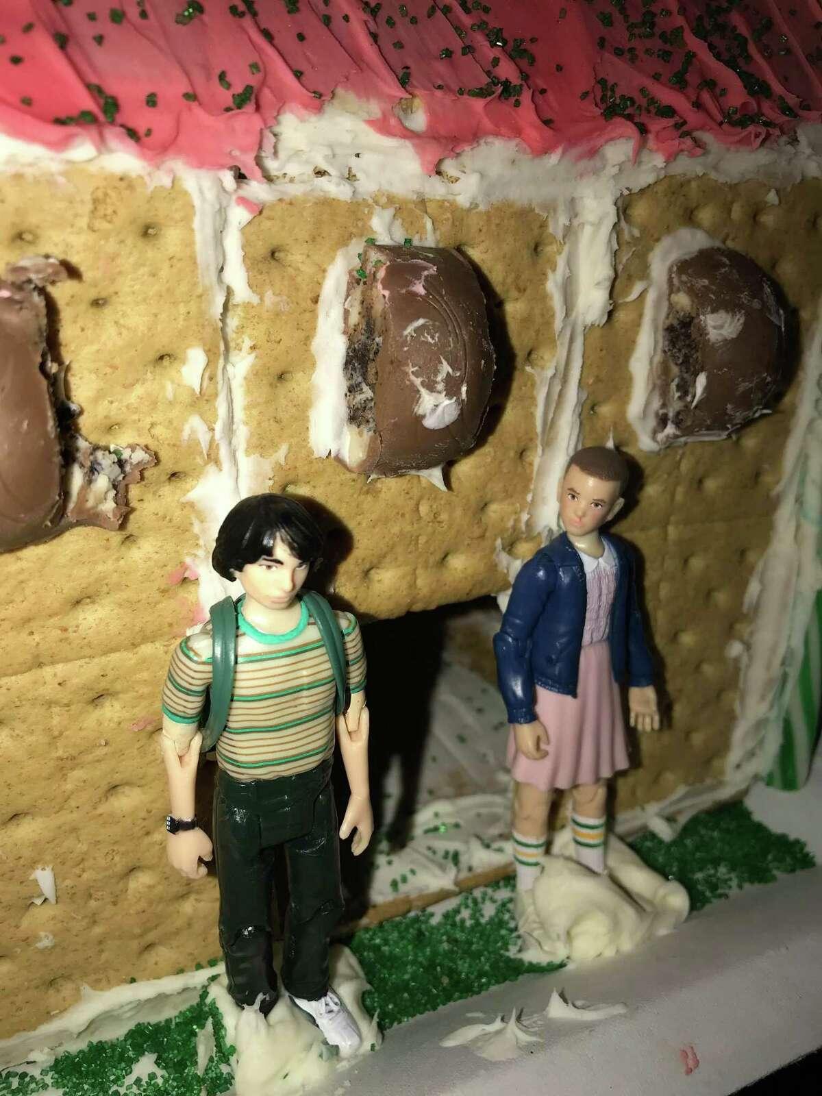 'Stranger Things' gingerbread house.