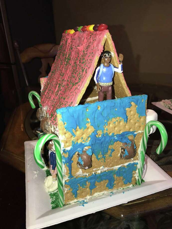 This 'Stranger Things' gingerbread house was built in Houston. Photo: Ricky Guerra