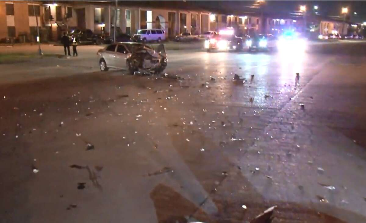 A male was hospitalized in serious condition after being hit by a car in west Houston Monday, police said.