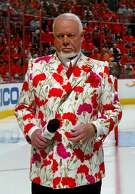PITTSBURGH - MAY 13:  Hockey commentator Don Cherry stands on the ice before the start of game three of the Eastern Conference Finals of the 2008 NHL Stanley Cup Playoffs between the Pittsburgh Penguins and the Philadelphia Flyers at Wachovia Center on May 13, 2008 in Philadelphia, Pennsylvania.  (Photo by Bruce Bennett/Getty Images)