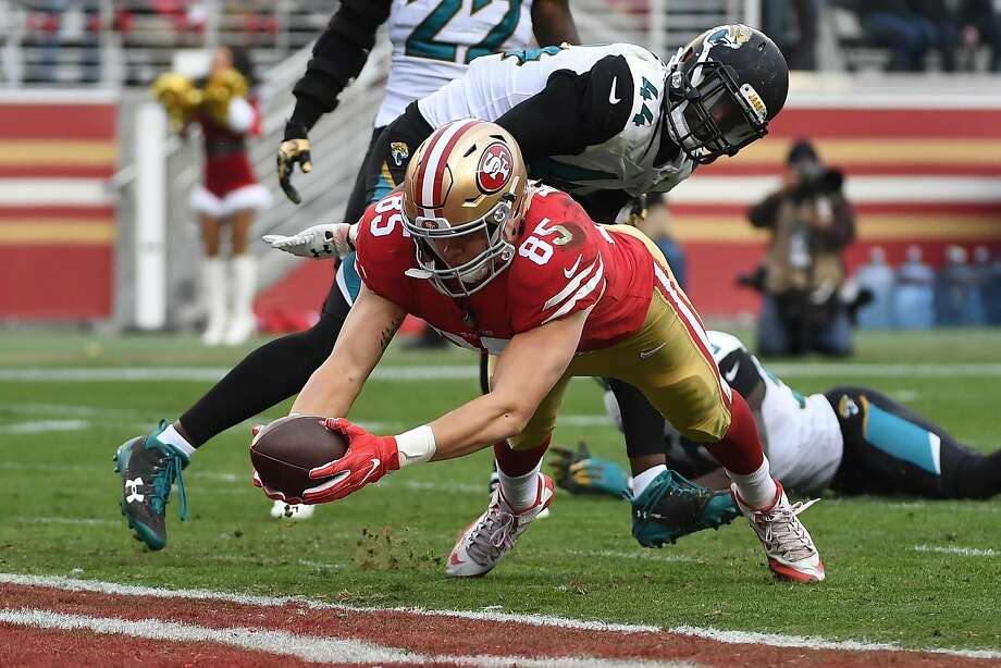 16bda126f George Kittle dives into the end zone for a touchdown to help San Francisco  beat Jacksonville